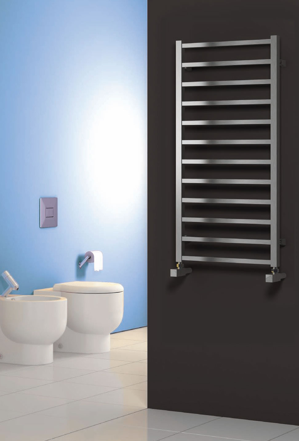 ARDEN 500 X 500 POLISHED STAINLESS STEEL TOWEL RAD