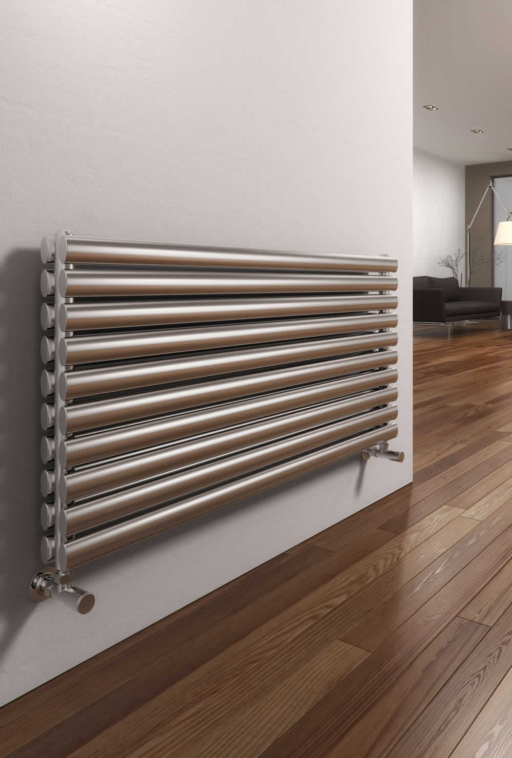 ARTENA 590 x 400 BRUSHED DBL STAINLESS STEEL RAD