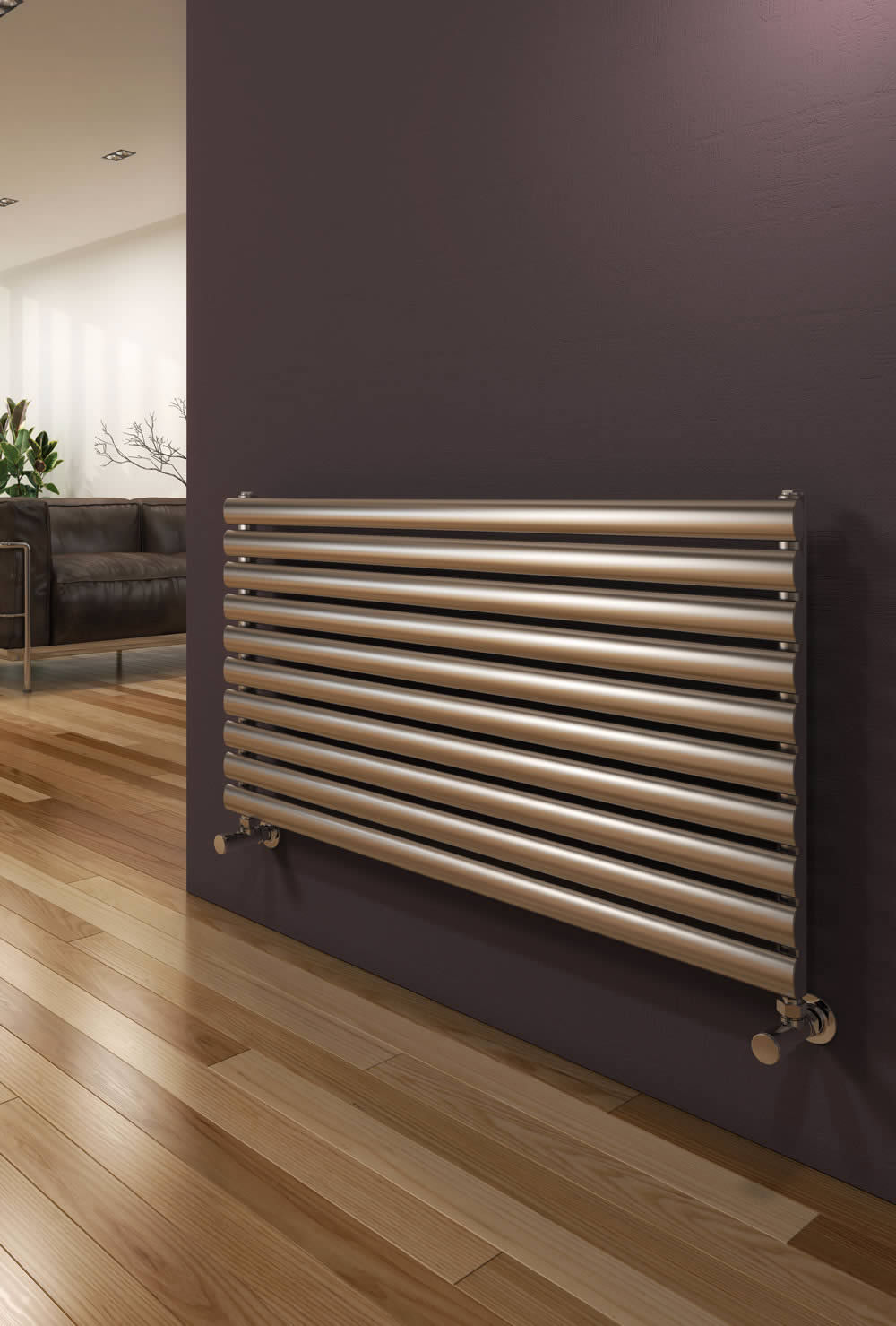 ARTENA 590 x 1000 BRUSHED DBL STAINLESS STEEL RAD