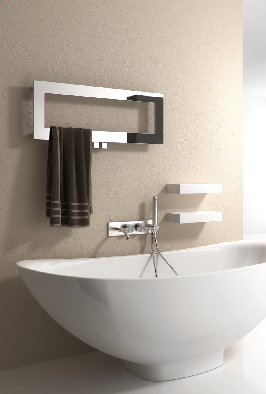BIVANO 800 X 300 STAINLESS STEEL TOWEL RADIATOR
