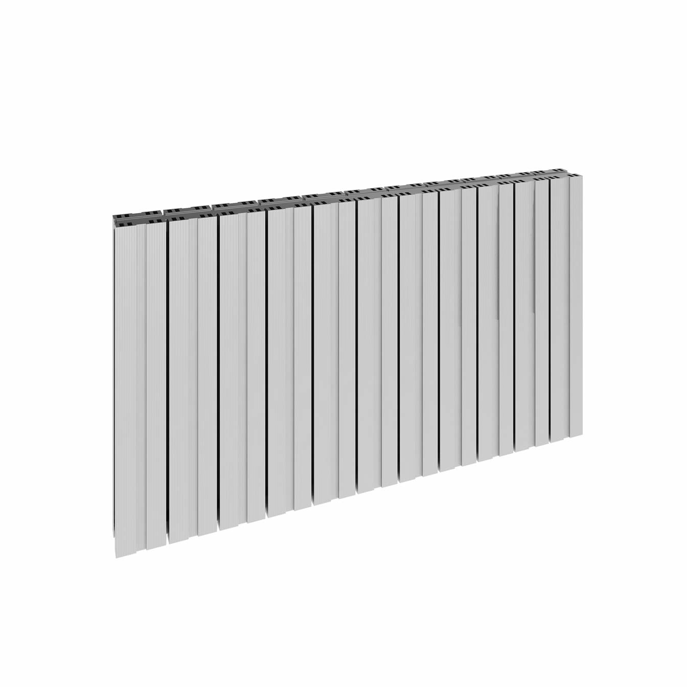 BOVA 600 x 470 POLISHED DOUBLE PANEL HORIZONTAL ALUMINIUM RADIATOR