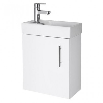 Premier Wall Hung 400mm Cabinet & Basin White - NVX182