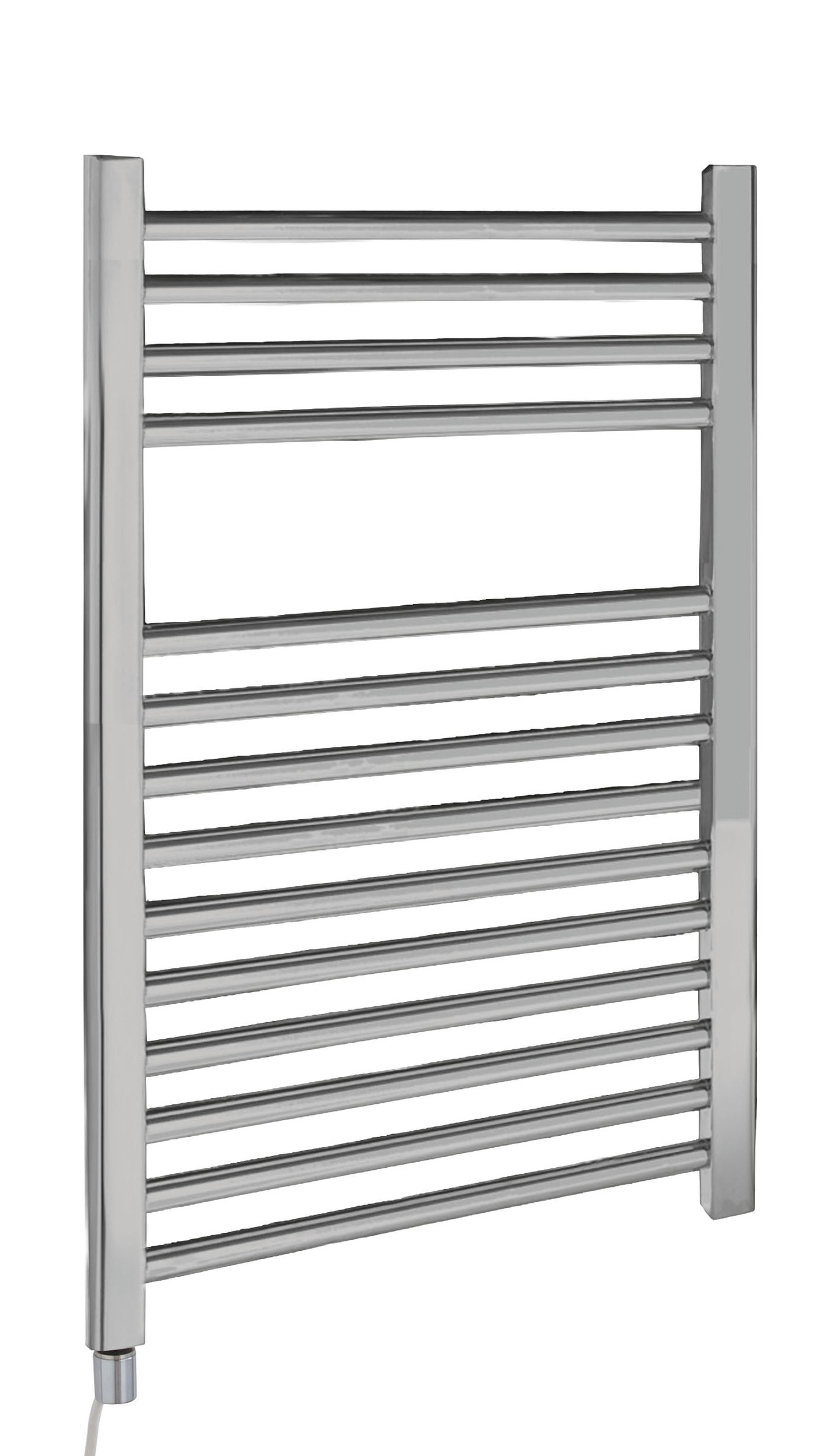 C/P Electric Only Heated Towel Rail 500x700