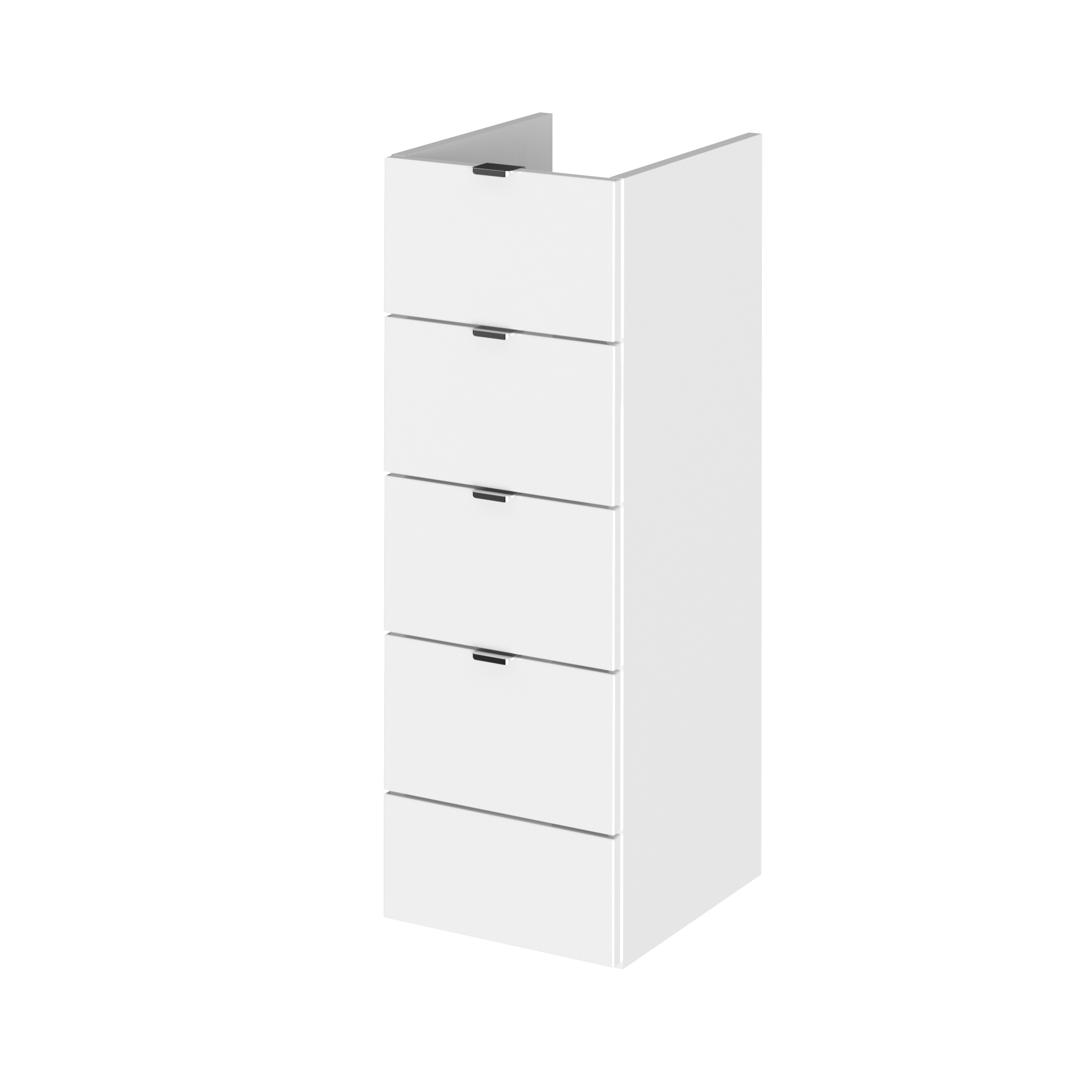 300mm Drawer Unit - White - Hudson Reed